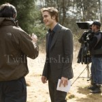 Chris Weitz et Robert Pattinson - tournage
