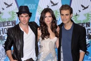Nina Dobrev, Ian Somerhalder et Paul Wesley de The Vampires Diaries aux Teen Choice Awards 2010